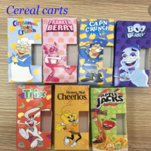 Cereal carts.